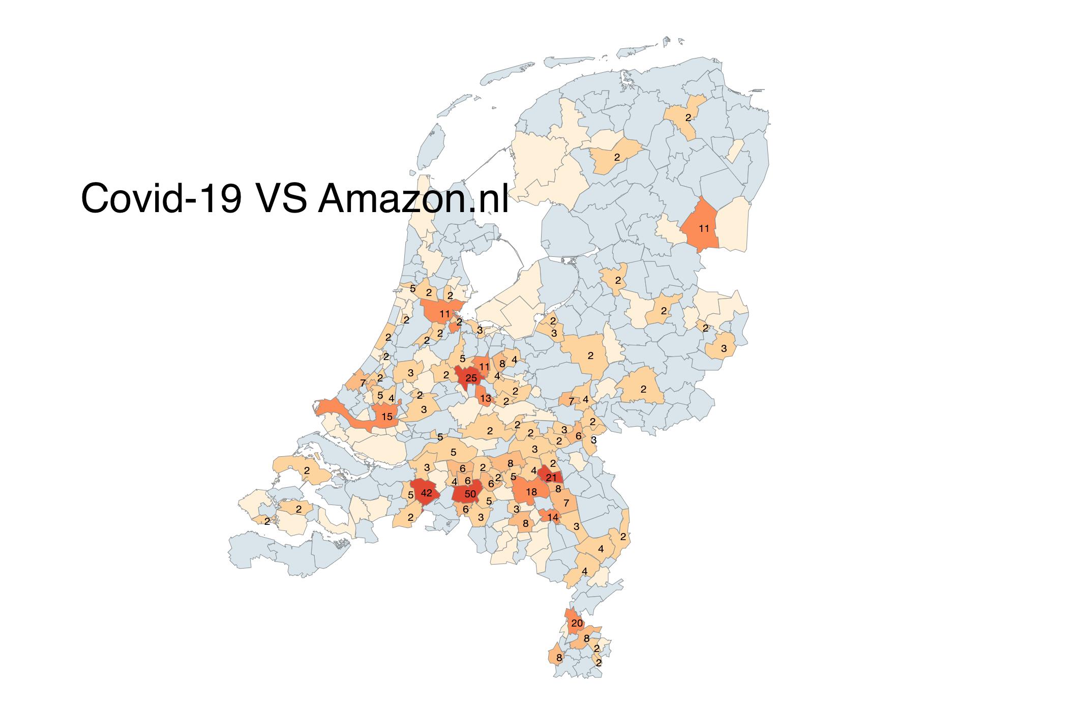 Impact corona op amazon nederland