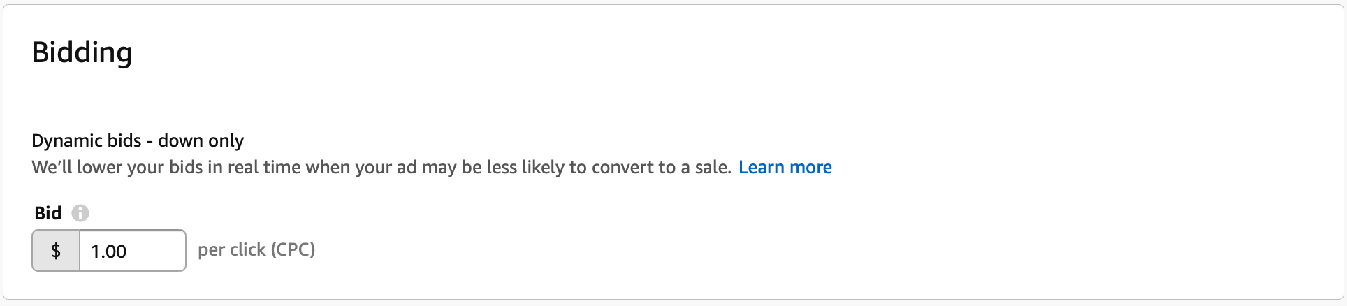 bidding amazon adverteren