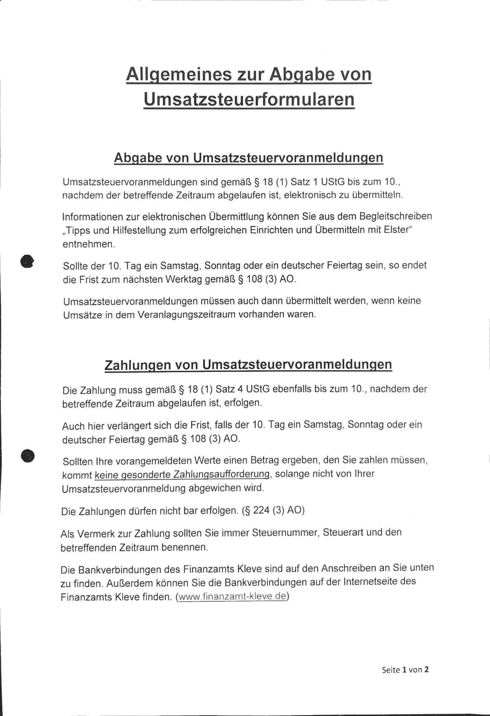 Informatie duitse belastingaangifte