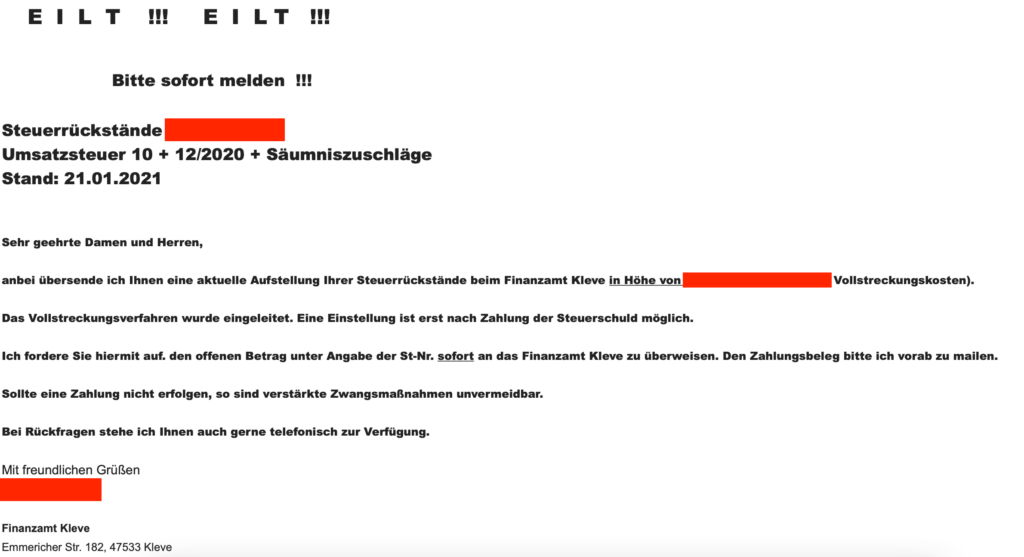 melding btw aangifte boete Duitsland