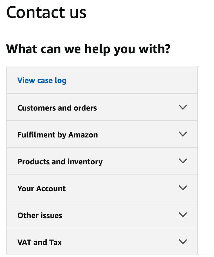 contact amazon seller central